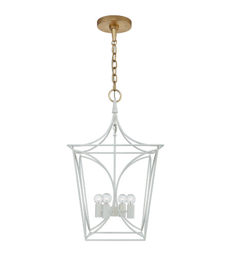 Visual Comfort KS 5144LC/G kate spade new york Casual Cavanagh Small Lantern in Light Cream and Gild