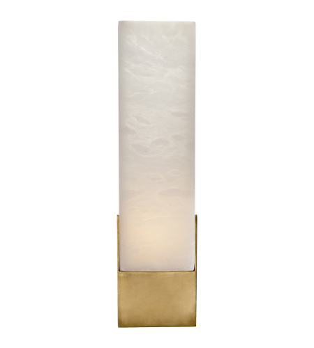 Visual Comfort KW 2112AB-ALB Kelly Wearstler Modern Covet Tall Box Bath Sconce in Antique-Burnished Brass