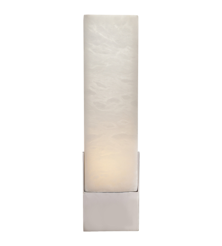 Visual Comfort KW 2112PN-ALB Kelly Wearstler Modern Covet Tall Box Bath Sconce in Polished Nickel
