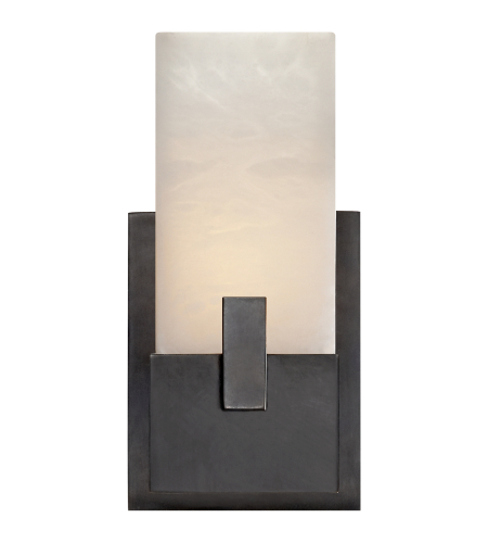Visual Comfort KW 2113BZ-ALB Kelly Wearstler Modern Covet Short Clip Bath Sconce in Bronze