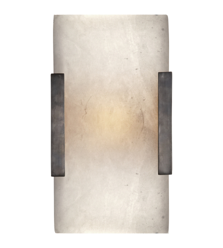 Visual Comfort KW 2115BZ-ALB Kelly Wearstler Modern Covet Wide Clip Bath Sconce in Bronze