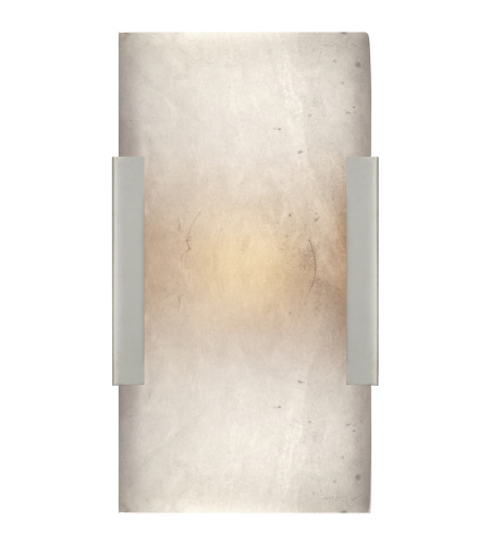 Visual Comfort KW 2115PN-ALB Kelly Wearstler Modern Covet Wide Clip Bath Sconce in Polished Nickel