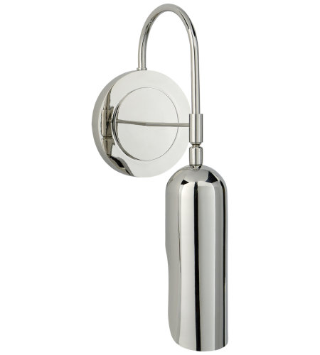 Visual Comfort KW 2420PN Kelly Wearstler Modern Lucien Functional Wall Light in Polished Nickel