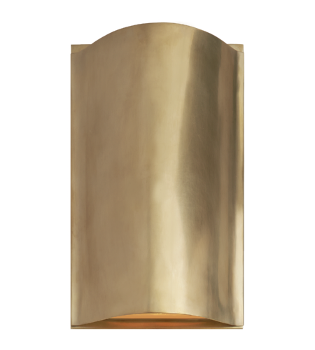 Visual Comfort KW 2704AB-FG Kelly Wearstler Modern Avant Small Curve Sconce in Antique-Burnished Brass with Frosted Glass