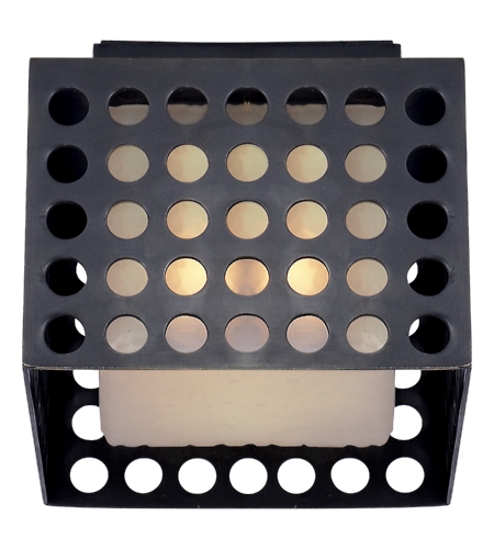 Visual Comfort KW 4060BZ-CDG Kelly Wearstler Modern Precision Small Square Flush Mount in Bronze with Clouded Glass