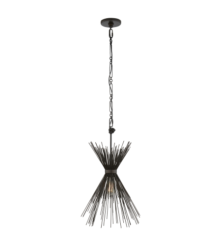 Visual Comfort KW 5077AI Kelly Wearstler Modern Strada Small Chandelier in Aged Iron