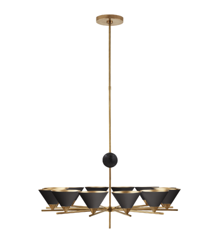 Shop for visual comfort chandeliers at foundry lighting visual comfort kw 5511ab blk kelly wearstler modern cleo large chandelier in antique burnished aloadofball Choice Image