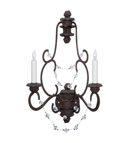 Visual Comfort NW 2005RS-CG Niermann Weeks Traditional Lombardy Sconce in Rusted Steel