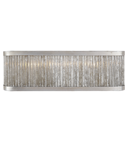 Visual Comfort NW 2226BSL Niermann Weeks Traditional Sophie Large Linear Bath Light in Burnished Silver Leaf