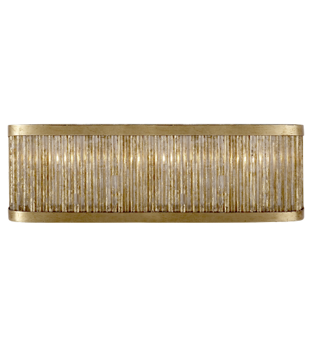 Visual Comfort NW 2226GI Niermann Weeks Traditional Sophie Large Linear Bath Light in Gilded Iron