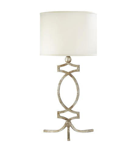 Visual Comfort NW 3011VS-S Niermann Weeks Traditional Brittany Table Lamp in Venetian Silver with Silk Shade