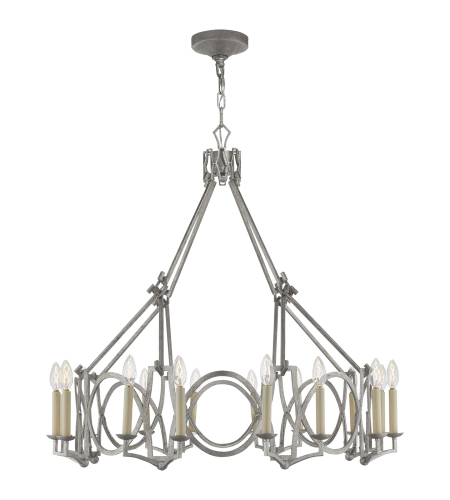 Visual Comfort NW 5011VS Niermann Weeks Traditional Brittany Chandelier in Venetian Silver