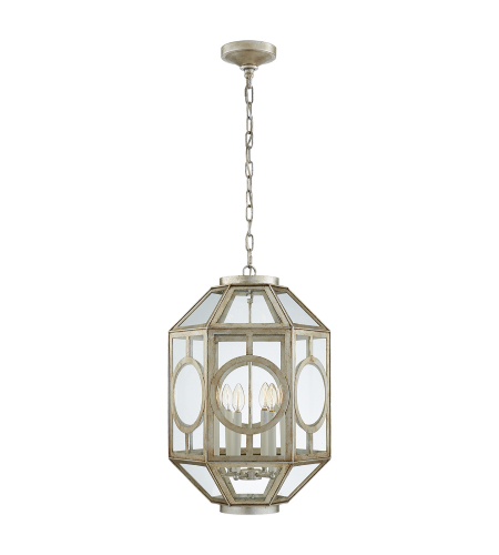 Visual Comfort NW 5100BSL Niermann Weeks Traditional Chatsworth Lantern in Burnished Silver Leaf