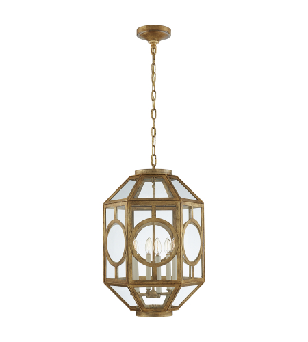 Visual Comfort NW 5100GI Niermann Weeks Traditional Chatsworth Lantern in Gilded Iron