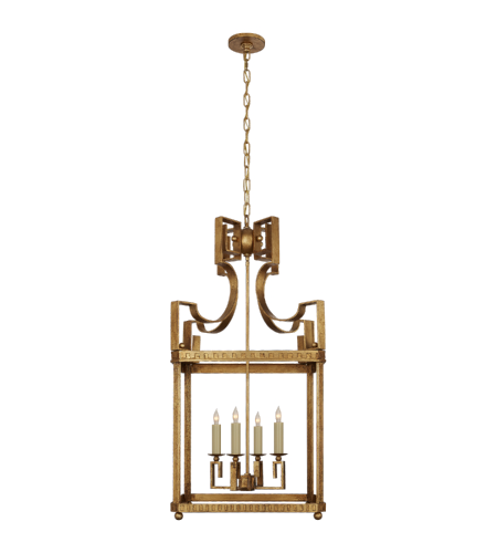 Visual Comfort NW 5143GI Niermann Weeks Traditional Severn Large Square Lantern in Gilded Iron