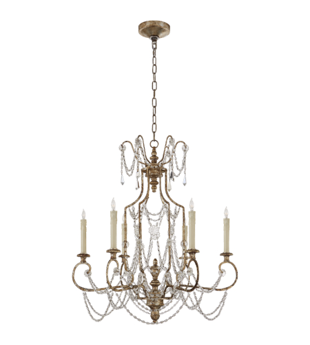 Visual Comfort NW 5155FLS Niermann Weeks Traditional Lucia Medium Chandelier in Flemish Silver