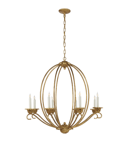 Visual Comfort NW 5200GI Niermann Weeks Traditional Verrocchio Medium Chandelier in Gilded Iron