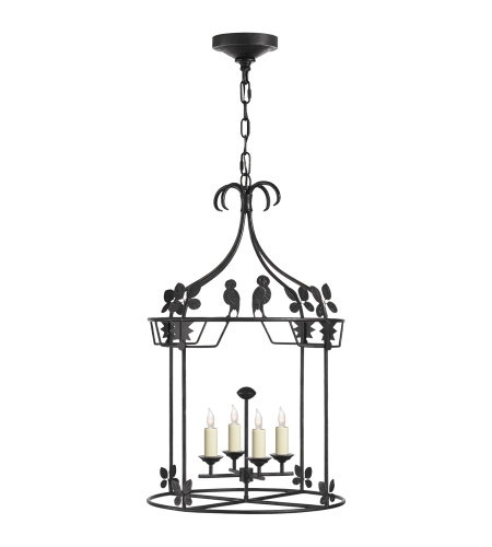 Visual Comfort NW 5205AI Niermann Weeks Casual Luciano Medium Round Lantern in Aged Iron