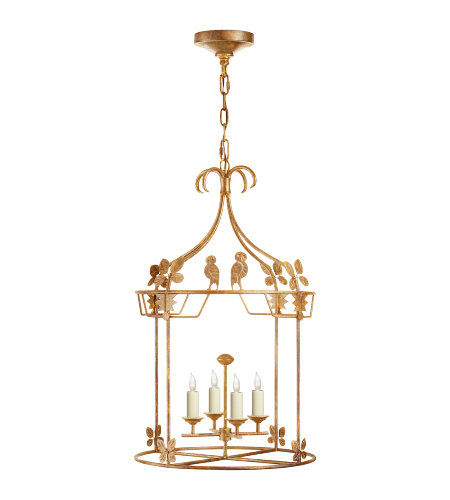 Visual Comfort NW 5205GI Niermann Weeks Casual Luciano Medium Round Lantern in Gilded Iron