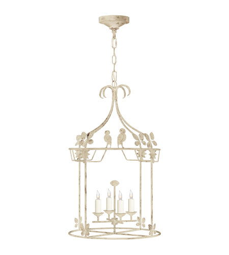 Visual Comfort NW 5205OW Niermann Weeks Casual Luciano Medium Round Lantern in Old White