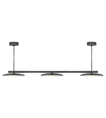 Visual Comfort PB 5200MBK Peter Bristol Modern Dot Large Triple Pendant in Matte Black