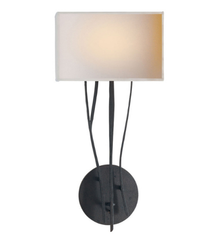 Visual Comfort S 2050BR-NP Ian K. Fowler Casual Aspen Sconce in Black Rust with Natural Paper Shade