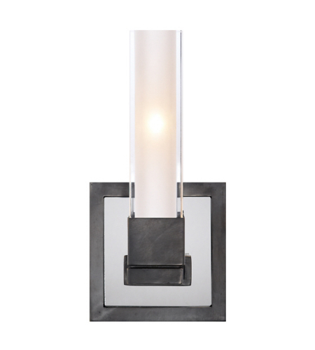 Visual Comfort S 2150BZ-CG Ian K. Fowler Modern Kendal Single Sconce in Bronze with Clear Glass