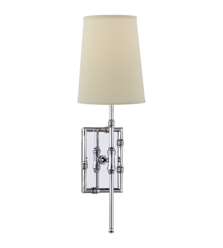 Visual Comfort S 2177PN-PL Studio VC Modern Grenol Single Modern Bamboo Sconce in Polished Nickel
