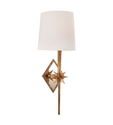 Visual Comfort S 2320GI-NP Ian K. Fowler Casual Etoile Sconce in Gilded Iron with Natural Paper Shield