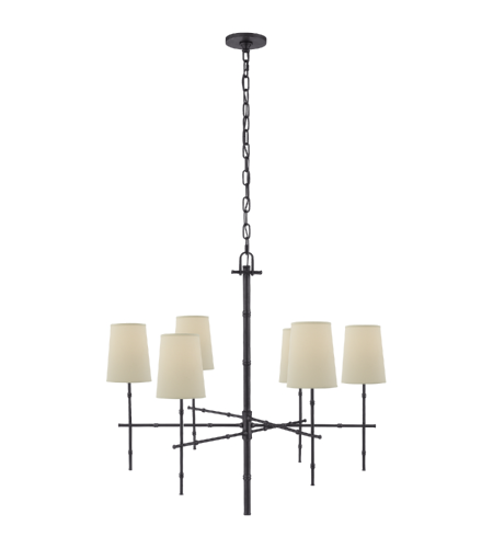 Visual Comfort S 5161BZ-PL Studio VC Modern Grenol Medium Modern Bamboo Chandelier in Bronze