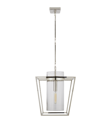 Visual Comfort S 5167PN-CG Ian K. Fowler Modern Presidio Small Lantern in Polished Nickel with Clear Glass
