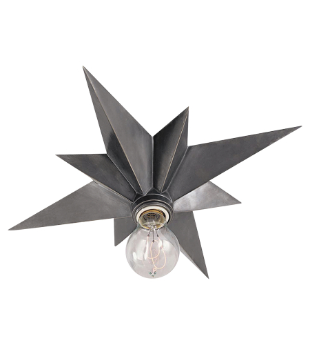Visual Comfort SC 4000AS Eric Cohler Casual Star Flush Mount in Antique Silver