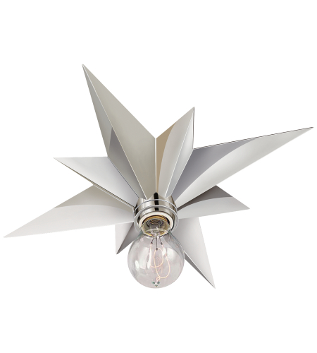 Visual Comfort SC 4000PN Eric Cohler Modern Star Flush Mount in Polished Nickel