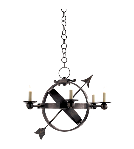Visual Comfort SC 5102BZ Eric Cohler Traditional Armillary Sphere Chandelier in Bronze