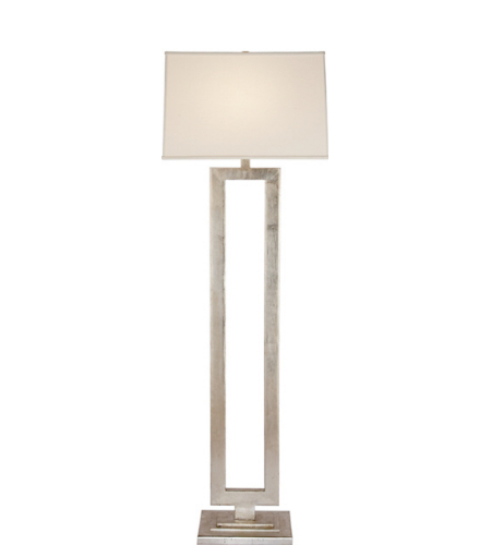 Visual Comfort SK 1008BSL-L Suzanne Kasler Modern Modern Open Floor Lamp in Burnished Silver Leaf