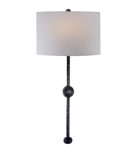 Visual Comfort SK 2263AI-L Suzanne Kasler Casual Carey Rail Sconce in Aged Iron with Linen Shade