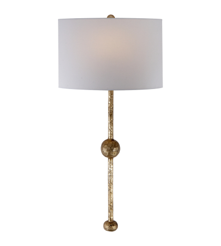 Visual Comfort SK 2263GI-L Suzanne Kasler Casual Carey Rail Sconce in Gilded Iron with Linen Shade