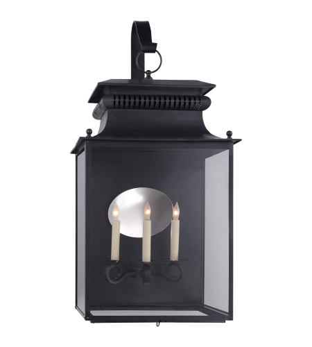 Visual Comfort SK 2356BC Suzanne Kasler Traditional Honore Large Bracketed Wall Lantern in Blackened Copper