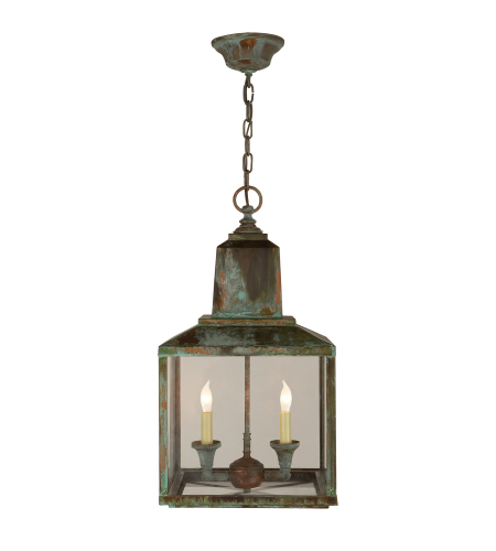 Visual Comfort SK 5007VG Suzanne Kasler Casual Brantley Lantern in Verdigris