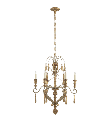 Beau Visual Comfort SK 5095FGL Suzanne Kasler Traditional Katherine Medium  Chandelier In French Antique And Gold Leaf