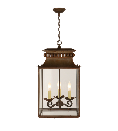 Visual Comfort SK 5300AZ Suzanne Kasler Casual Honore Small Lantern in Antique Zinc
