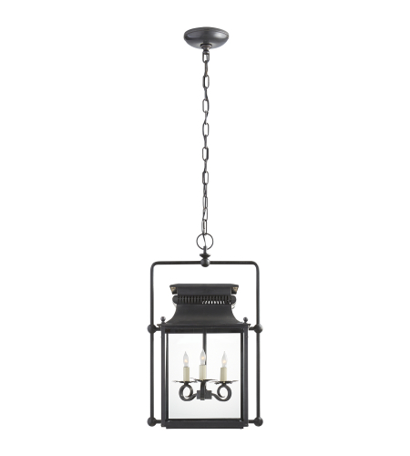 Visual Comfort SK 5305BC Suzanne Kasler Traditional Honore Medium Square Frame Lantern in Blackened Copper