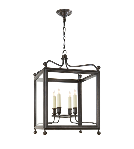 Visual Comfort SP 5002BZ J. Randall Powers Traditional Greggory Medium Lantern in Bronze