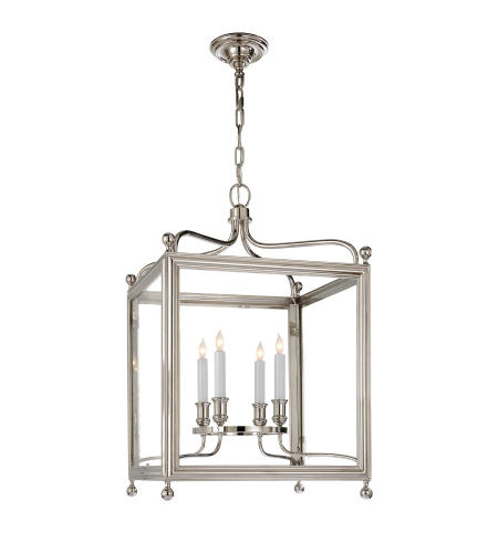 Visual Comfort SP 5002PN J. Randall Powers Traditional Greggory Medium Lantern in Polished Nickel