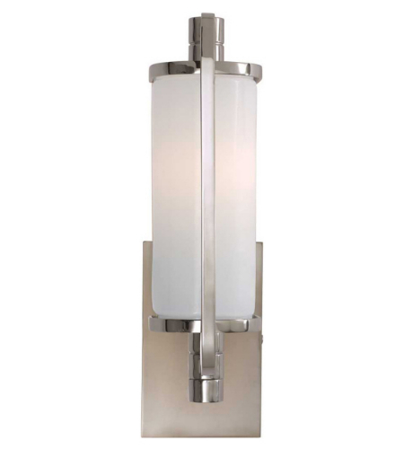 Visual Comfort TOB 2030PN-WG Thomas O'Brien Modern Keeley Short Pivoting Sconce in Polished Nickel with White Glass