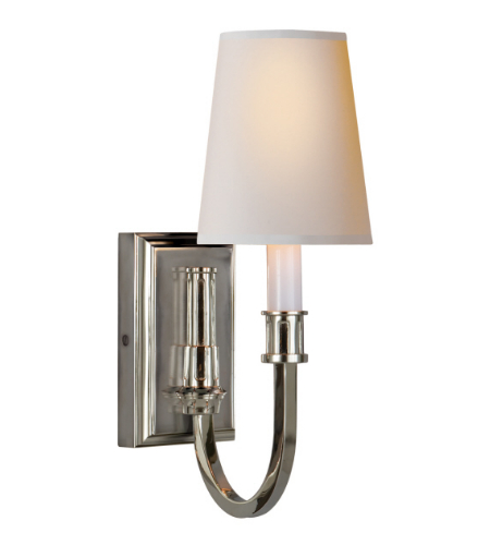 Visual Comfort TOB 2327PN-NP Thomas O'Brien Modern Modern Library Sconce in Polished Nickel