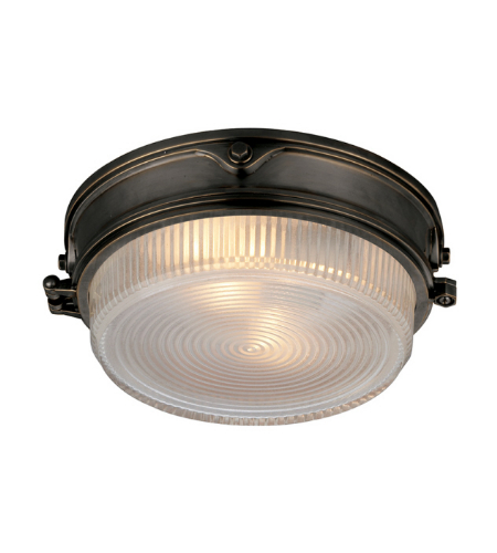 Visual Comfort TOB 4206BZ-CG Thomas O'Brien Casual Garey Flush Mount in Bronze with Industrial Prismatic Glass