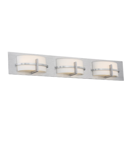 dweLED by WAC Lighting WS-21633-AL Compass 33in LED Bathroom Vanity & Wall Light 3000K in Brushed Aluminum