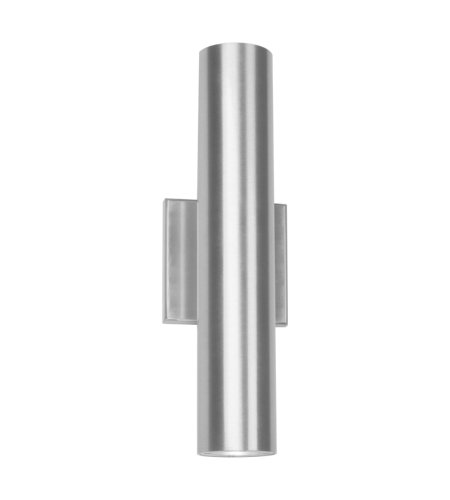 dweLED by WAC Lighting WS-W36614-AL Caliber 2 Light LED Outdoor Wall Light 3000K in Brushed Aluminum