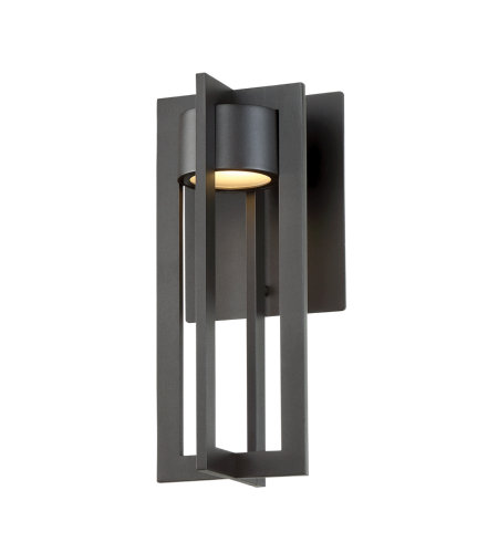 dweLED by WAC Lighting WS-W48612-BZ Chamber 12in LED Outdoor Wall Light 3000K in Bronze